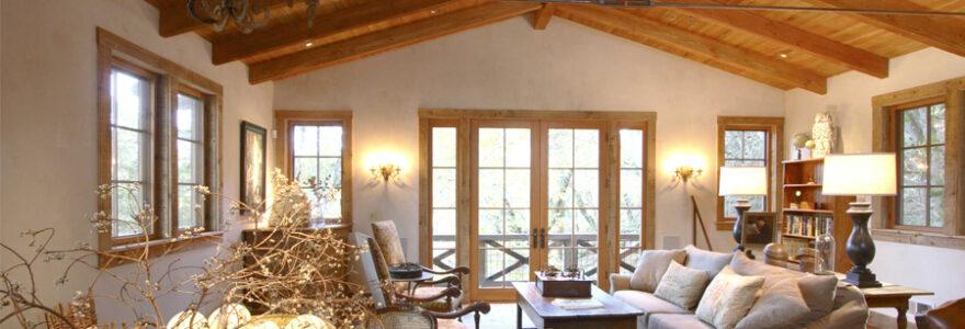 maison clé sur porte en ossature de bois